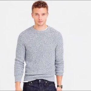 J Crew Marled Cotton Crewneck Sweater
